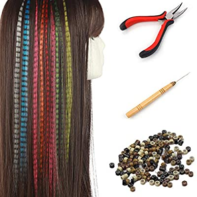 Feather Hair Extensions Kit