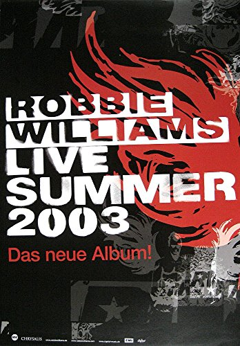 Robbie Williams Poster LIVE Summer 2003