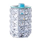 SUNPIN Crystal Wax Warmer,Hollow Electric Fragrance Candle Warmer for Warming Scented Candles,Wax Melts - Spa,Aromatherapy (Transparent Crystal)
