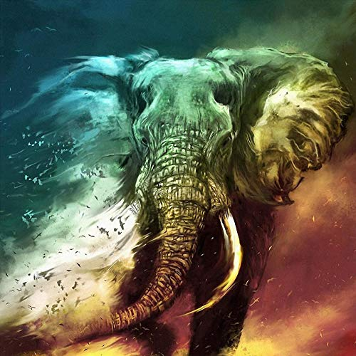 XYDXDY Arte de Rompecabezas de 2000 Piezas para Adultos, Juego de Rompecabezas de Dibujo de Elefantes, Rompecabezas de 2000 Piezas para niños, Cada Pieza de Rompecabezas Encaja Perfectamente
