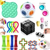 Fidget Toys, Fidget Toy Pack, 19 Pack Fidget Toys con Simple para Antiestres Niños, Fidget Toys Set Juguetes Anti Stress con Stress Fidget Ball, Regalos para Niños, Antiestres Adultos