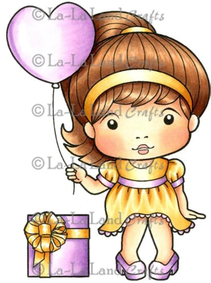 La-La Land Crafts Cling Rubber Stamp, Heart Balloon Marci