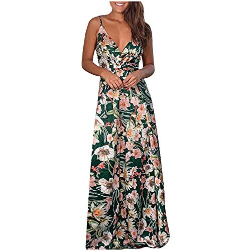 pamkyaemi Vestido de verano para mujer, bohemio, maxivestido...