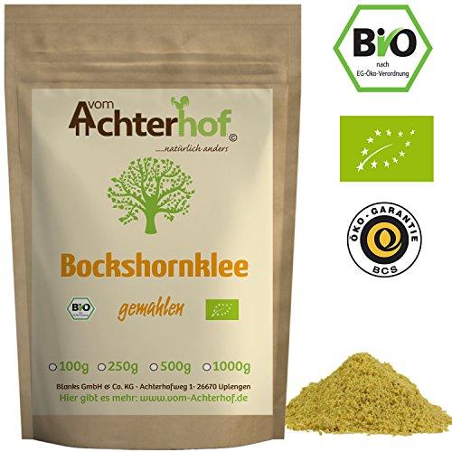 Bockshornklee gemahlen BIO (1kg) | Bockshorn-Tee| Bockshornkleesamen Pulver | Ideal als Tee oder...