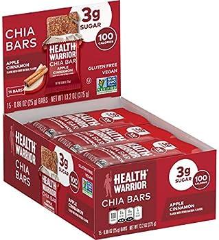 15-Count Health Warrior Apple Cinnamon Gluten Free Chia Bars