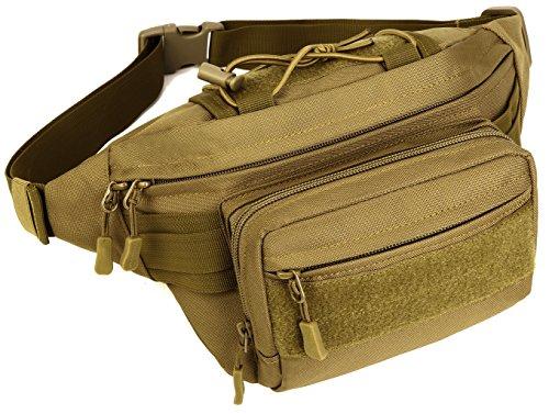 DCCN Heuptas, tactical, bechttas, leger, met flessenhouder, voor outdoor, sport, trekking, wandelen, vissen