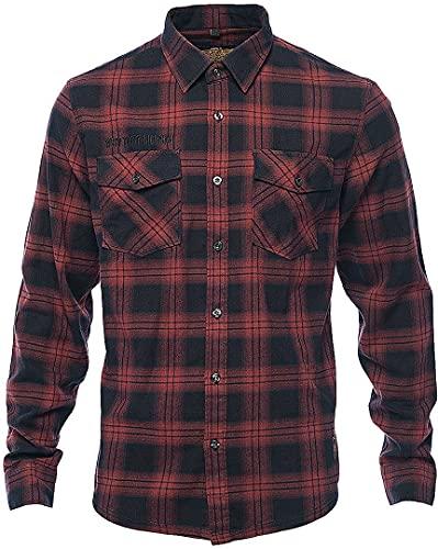 WEST COAST CHOPPERS - WCC Cisco Flannel Camisa - Negro/Rojo rojo/negro L