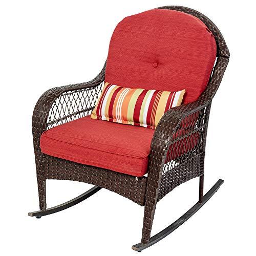 Sundale Outdoor Rocking Chair, Patio Wicker Rocker Chair...