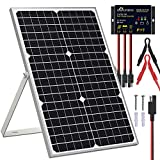 SOLPERK Solar Panel Kit 30W 12V, Solar Battery Trickle Charger Maintainer + Upgrade Waterproof Controller + Adjustable Mount...