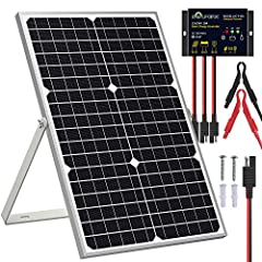 ☞【Outstanding Quality】30W solar panel adopts well-built monocrystalline cells with high conversion efficiency up to 24%. Using Tempered glass, weatherproof film and plus aluminum frame for excellent extended outdoor use, which can withstand storms fo...