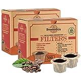 Brew Addicts Filtros desechables K-Cup – 600 filtros de café de papel sin blanquear para Keurig, totalmente naturales y biodegradables, marrón