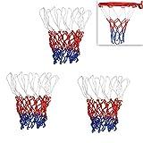 Schneespitze 3Pcs Rete da Basket Universale in Nylon,Canestro da Basket Anello,Basket Goal Canestro Bordo Rete,Pieghevole da Parete Canestro Anello Sostituzione della Rete da Basket Durevole