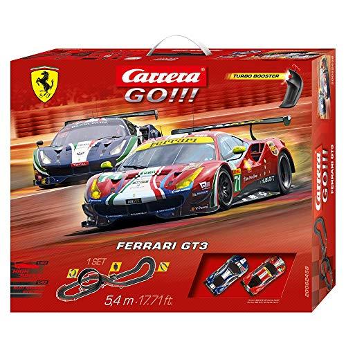 Carrera- GO Ferrari GT3 Circuito de Coches de 5.4 m, Escala 1:43, Multicolor (20062458)