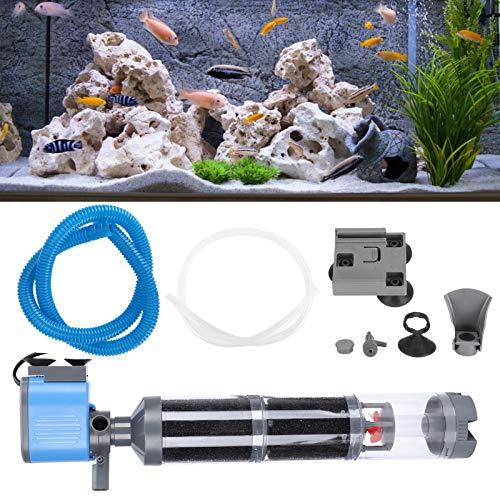 01 Filtro interno de aquário, filtro de aquário 5 em 1 de 35 W, para acessórios de aquário de filtro de circulação de água (tipo bandeira britânica)