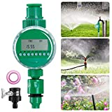mopalwin Automatische Bewässerungsuhr Wasser Timer, Digital Bewässerung Controller Zeitmesser für Garten Pflanz,LCD-Display, Batteriebetrieb