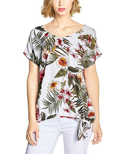 Street One Damen 341496 Tala Bluse, Mehrfarbig (White 30000), (Herstellergröße:42)