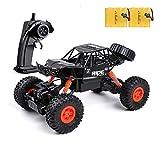 Voiture Télécommandé Enfants - 1:16 4WD Tout-Terrain 2.4Ghz Électrique Radiocommandé en Alliage, 15km/h Haute Vitesse Voiture de Course Buggy avec 2 Batteries Cadeau pour 5-12 Ans Filles et Garçons