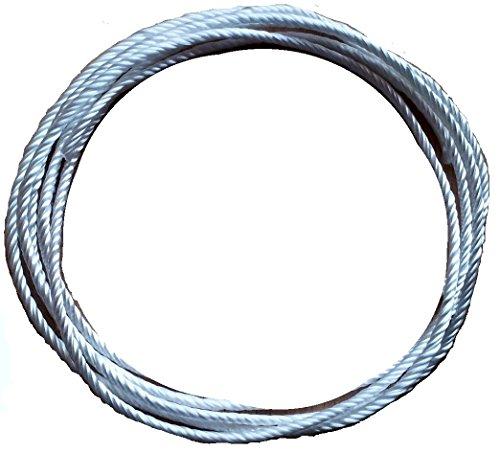Geflochtene Silikatschnur Ø 2,5mm/Länge: 2 Meter (Grundpreis: EUR 2,75/m) sehr hochwertige und langlebige Faser aufgrund hoher Hitzebeständigkeit weit über 1300°C/Silica rope wick