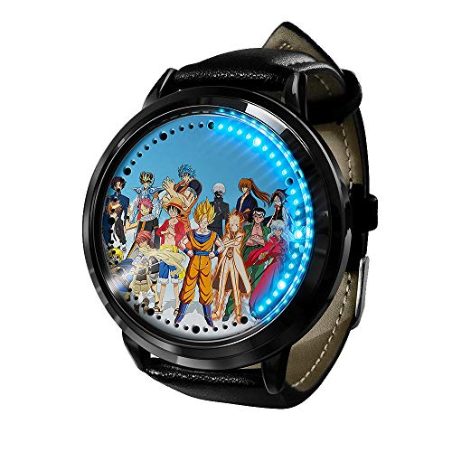 Reloj de Anime Reloj de una Pieza Pantalla táctil LED Impermeable Reloj de luz Digital Reloj de Pulsera Unisex Cosplay Regalo Nuevos Relojes de Pulsera niños-A2