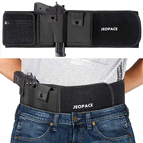 Belly Band Holsters for Concealed Carry, Gun Holster for Men, Belly Band for Men and Women Compatible with Glock, Ruger LCP, M&P Shield, Sig Sauer, Ruger, Kahr, Beretta, 1911 and More
