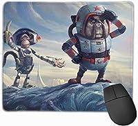 マウスパッド ゲーミングマウスパット 宇宙飛行士猿バナナ 高級感 最適 高級感 おしゃれ 防水 耐久性が良い 滑り止めゴム底 ゲーミングなど適用 マウスの精密度を上がる 疲労軽減 作業 マウスパット ( 25*30 Cm )