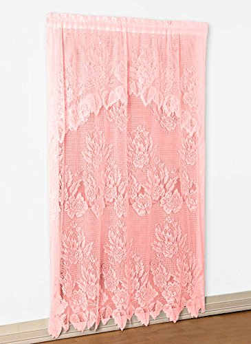 """Carol Wright Gifts Lace Panel with Valance, Rose, Size 60"""" W x 84"""" L"""