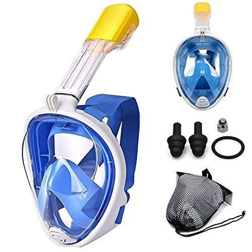 NYSJLONG Máscara de Buceo Nuevo Enchufe Máscara de Buceo de Cara Completa Máscara de esnórquel antiniebla Niños Adultos Máscara de Pesca submarina Submarina para cámara Gopro