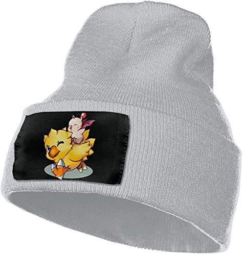 Teemoo Final Fantasy Mog und Chocobo Outdoor Mütze Strickmütze Warme Beanie Caps für Männer Frauen