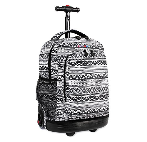 J World New York Sunny Rolling Backpack, Tribal, Tribal, Size One Size