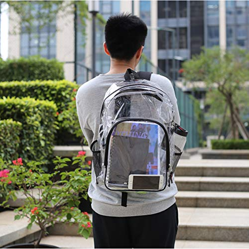 Heavy Duty Clear Backpack,Transparent Vinyl Backpack with Adjustable Straps, See Through Backpack for Work ,School,Security Travel and Sports
