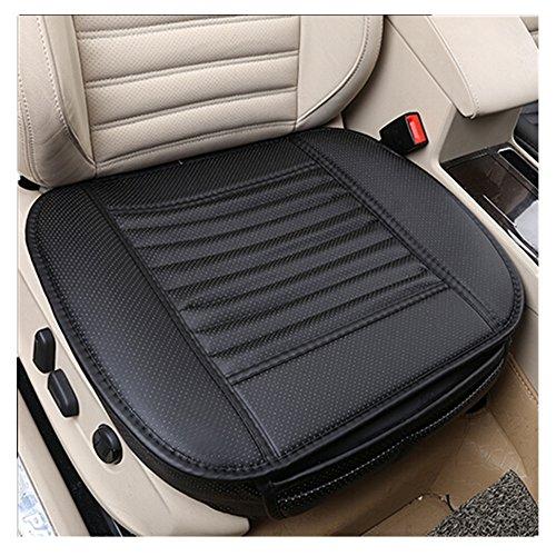 AOUTOS 1 PCS PU Leder Bambus Holzkohle Breathable Komfortable Autozubehör Sitzbezüg Vier Jahreszeiten General Autozubehör Einzelsitzbezüge (Schwarz)