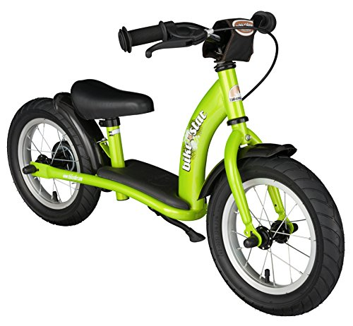 BIKESTAR Lauflaufrad für Kinder 3 Jahre mit Luftreifen und Bremsen | 12 Zoll Classic Edition | Grün