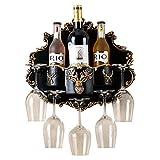 Zpong Europäisches Weinregal 39 * 35 * 15 cm, Kreatives Multifunktionales Weinflaschenregal Für Weingläser