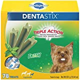 PEDIGREE DENTASTIX Dental Dog Treats for Toy/Small Dogs Fresh Flavor Dental Bones, 12.7 oz. Pack (78 Treats)