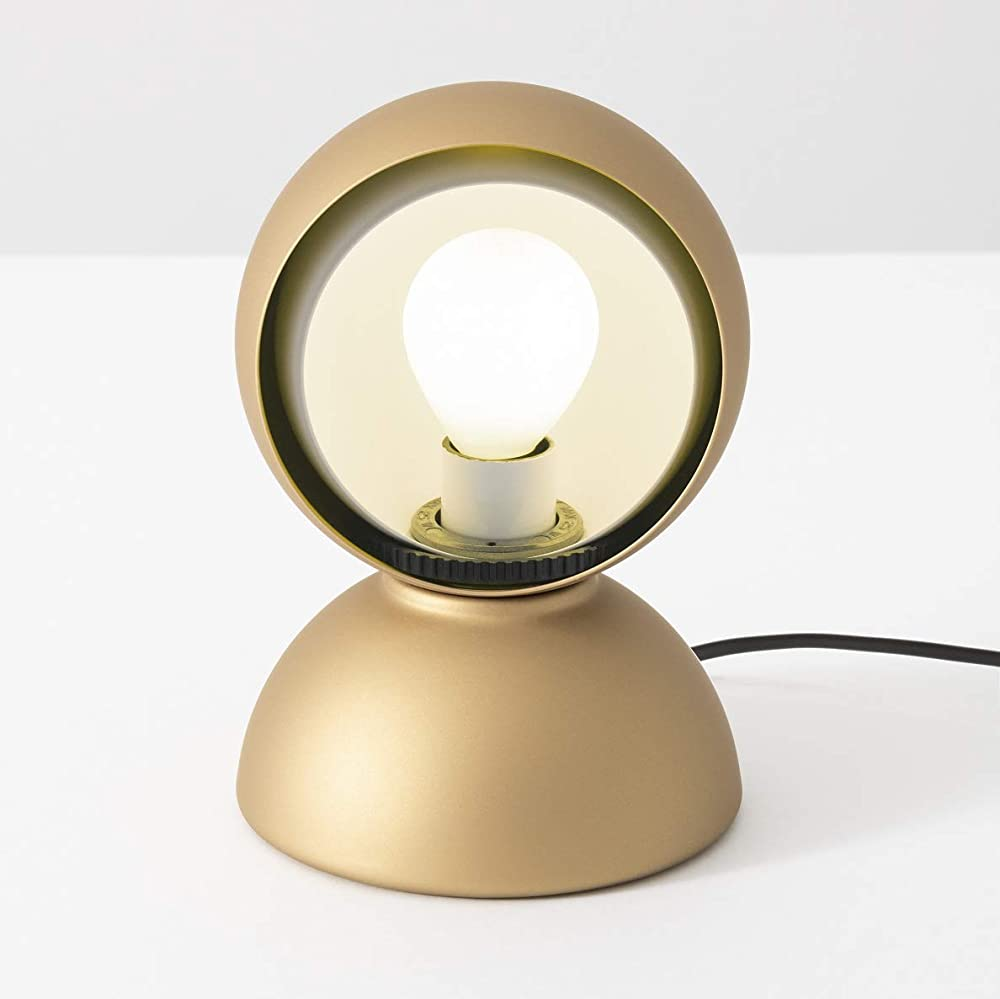 Artemide, eclisse oro opaco limited edition,lampada da tavolo,in metallo verniciato S0028030A03