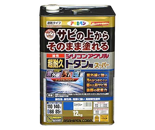 油性超耐久シリコンアクリルトタン用 12kg (スカイブルー)/62-2305-63