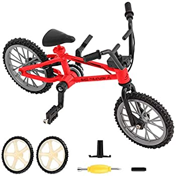 BMX Finger Bike Series 12 Cool Boy Toy Creative Game Toy Set  Replica Bike with Real Metal Frame Graphics and Moveable Parts for Flick Tricks Flares Grinds and Finger Bike Games  red