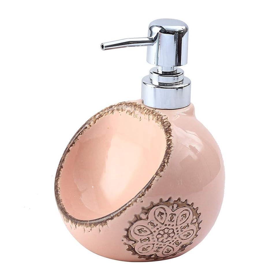 六分儀痴漢防止250ML / 420ML / 580MLクリエイティブセラミックソープディスペンサーデュアルユース洗剤ハンドスポンジシート浴ボトルサブ瓶と瓶消毒 (Size : A)
