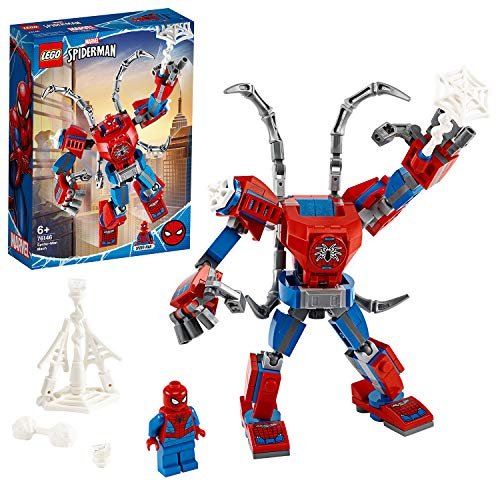 LEGO Super Heroes Marvel Mech Spider-Man, Playset per Bambini dai 6 Anni in su, 76146