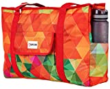 Beach and Pool Bag XL - Waterproof (IP64) - L22 xH15 xW6 - Huge Zip Inner Pocket - 4 Outside Pockets - Top Zip