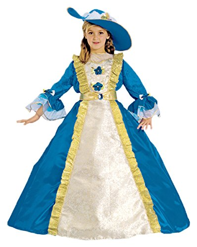 Dress Up America Costume d'enfant bleue Princess