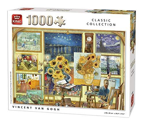 King 55865 Vincent Van Gogh - Puzzle (1000 Piezas, 68 x 49 cm), diseño de Vincent Van Gogh