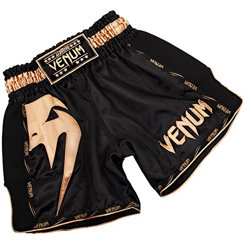 Venum Herren Giant Thaibox Shorts, Schwarz/Gold, M