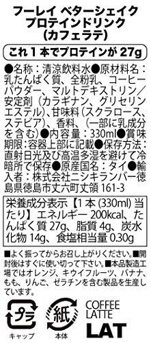 ベターシェイク プロテインミルクシェイク【これ1本でプロテインが27g】(カフェラテ)330ml x 12本(ケース販売)ミルクプロテイン Better Shake Protein Milk Shake ( Milk Protein )