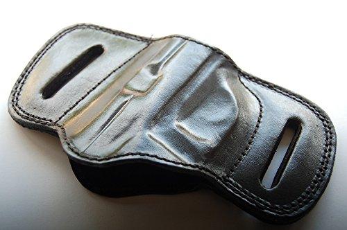 Cal38P23 Handcrafted Leather Belt Slide Holster for Sig Sauer P230 P232 Tan Black (Black)