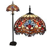 16 pulgadas Continental Tiffany Iluminación Sala Escaleras Dormitorio Comedor Bar Pastoral de la manera creativa personalidad decorativa Lámpara de pie