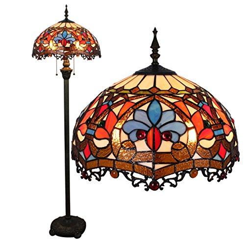 16 pollici Continental Tiffany Illuminazione Soggiorno Scale da letto Sala da pranzo Bar pastorale creativo di personalità di modo decorativo lampada da terra