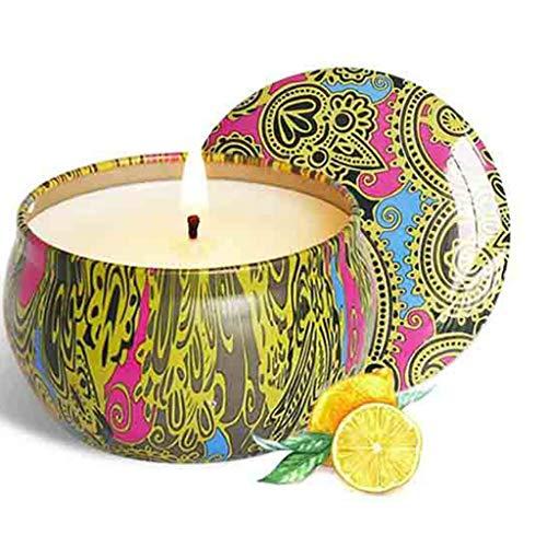 Xiand Natürliches Sojawachs Duftkerze Geschenkset, 1 Pack Aroma Kerzen Weihnachten, Aromatherapie Kerze Candle für Weihnachten, Bad Geburtstag Yoga Jahrestag Damen Geschenke (G)