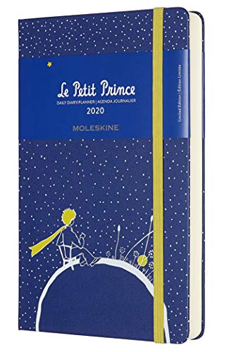 Moleskine Classic planificador mensual de 18 meses 2019-2020, cubierta suave, bolsillo (8,9 x 14 cm), color negro, Petit Prince, Large
