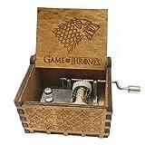 FORUSKY Caja de música de madera tallada con manivela para decoración del hogar, juguetes, regalo